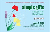 "Spring 2016 ""Simple Gifts"" Concert Media"