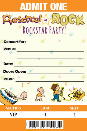Party Invitations   Concert Tickets Invites!  Concert Ticket Birthday Invitations