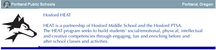 Hosford PTA HEAT After School Program